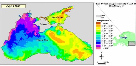 State Of Environment Report Pressures And Trends - Crimea black sea map